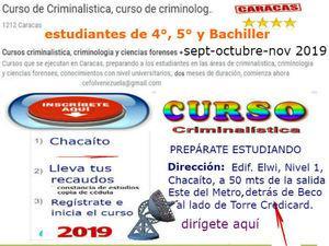 Cursos Criminalistica Caracas 2019