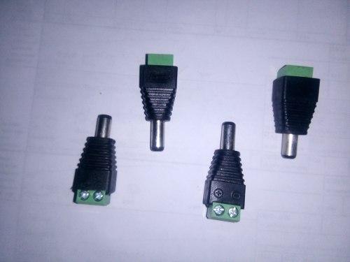 Pin Conector Macho Para Fuente Cctv Y Video Balun