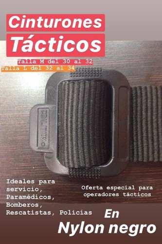Cinturones Tácticos En Nylon Negro