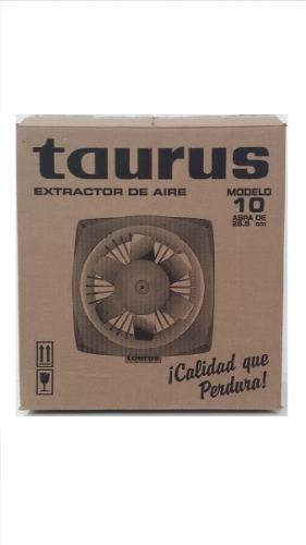 Extractor De Aire Tauro Taurus De 10 P. Plastico / 45 Vrds