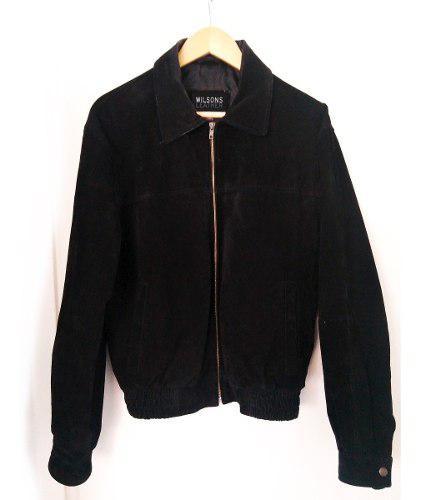 Chaqueta Cuero Gamuzado Negro, Wilsons Leather Usa Talla S