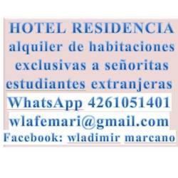 Hotel. Residencias. Alquiler de habitaciones. Inmobiliaria,