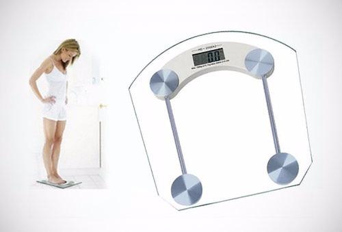 Peso Balanza Digital De Baño 180 Kg Vidrio Templado Bascula