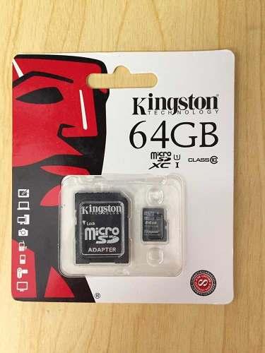 Memoria Micro Sd 64gb Clase 10 Kingston (con Adaptador)
