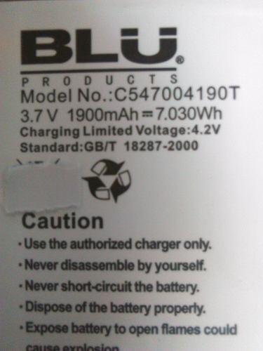 Bateria Pila Blu Ct Blu Life Play 2 L170 Nueva