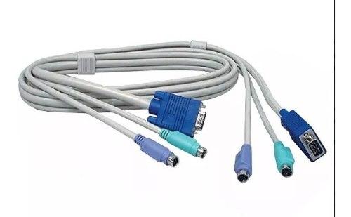 Cable Vga Macho Macho Monitor Teclado Mouse Ps2 15 Pines