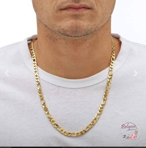 Cadena Gruesa Para Caballeros Figaro En Oro Laminado 18k