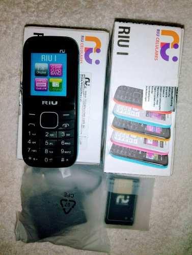 Riu 1, Teléfono Celular Dual Sim, Radio Linterna,tienda