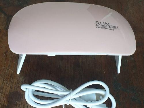 Sun Mini Lampara De Led Para Uñas Uv/6w