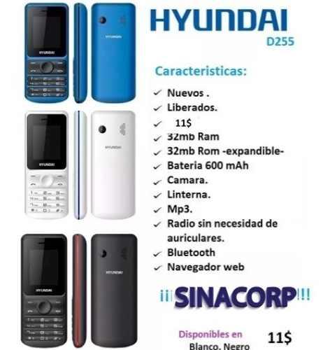 Teléfono Celular Hyundai D255 Nuevo.