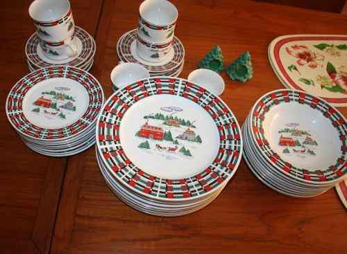 Vajilla De Navidad 8 Puestos Oferta! Remate!