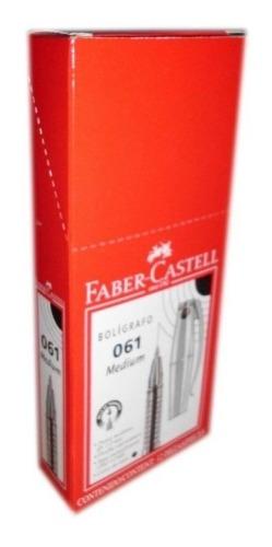 Bolígrafo Faber Castell 061 Negro X Unid