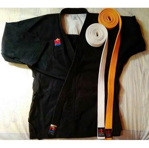 Kimono Negro Bushido Talla  Más Cinturones