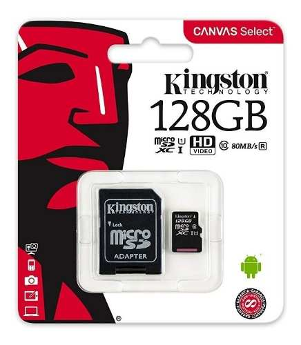 Memoria Micro Sd 128 Gb Kingston Clase 10 Original Xtc
