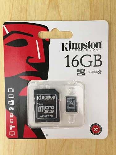Memoria Micro Sd 16gb Clase 10 Kingston (con Adaptador)