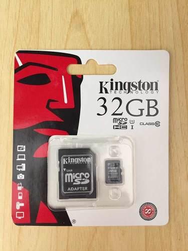 Memoria Micro Sd 32gb Clase 10 Kingston (con Adaptador)