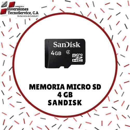 Memoria Micro Sd 4gb Sandisk