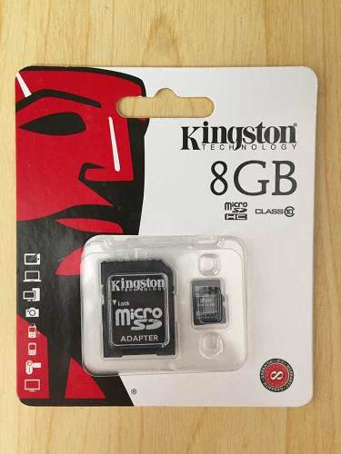 Memoria Micro Sd 8gb Clase 10 Kingston (con Adaptador)
