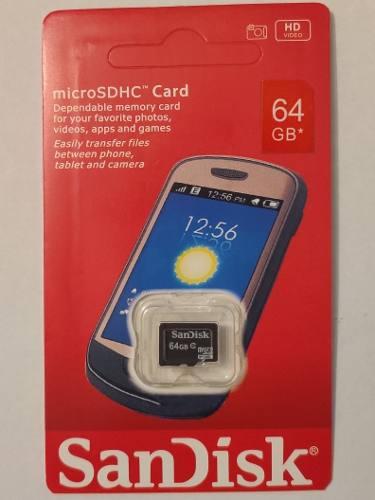 Memoria Micro Sd De 64 Gb Clase 10