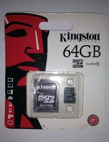 Memoria Micro Sd Kingston 64 Gb Clase 10 Tienda Chacao