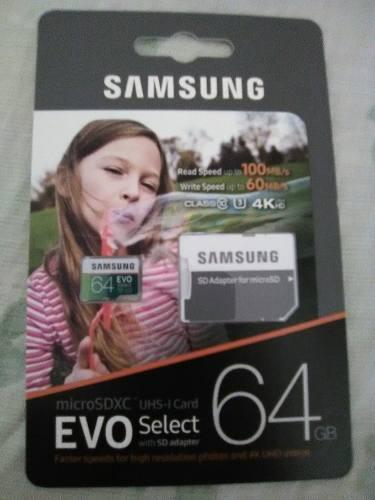 Memoria Micro Sd Samsung Evo 64gb Clase 10 Original
