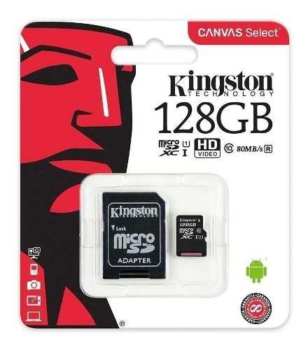 Tarjeta De Memoria Micro Sd Kingston 128gb Class 10