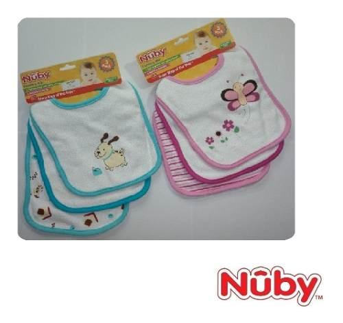 Baberos Set De 3 Pzas / Baberos De Tela Para Bebe Nuby