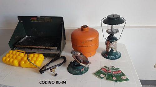 Combo Para Camping: Carpa, Cocina, Bombona, Lampara, Remate.