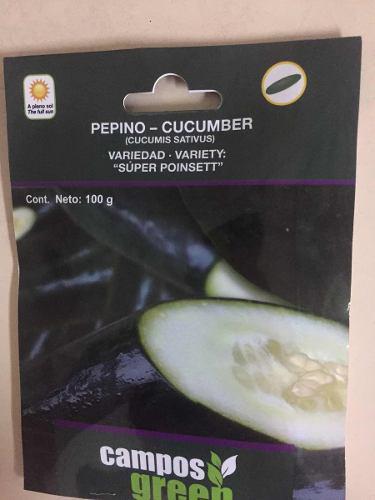 Semilla De Pepino Súper Poinset 100gr