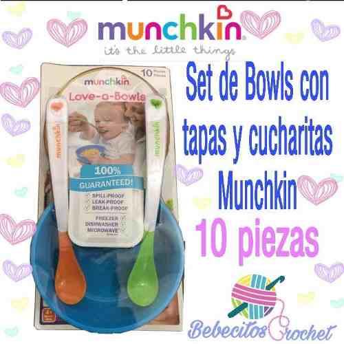 Set De Platos Munchkin Con Tapas Y Cucharitas
