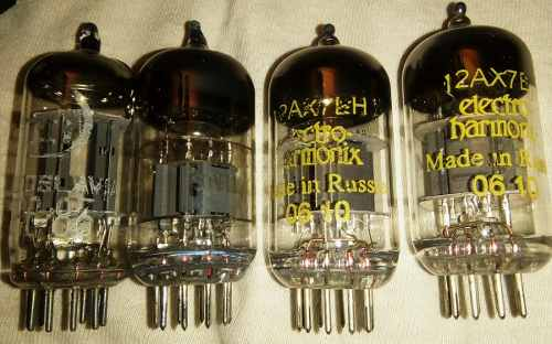 4 Tubos De Vacio Reemplazo A Los Tubos 12ax7