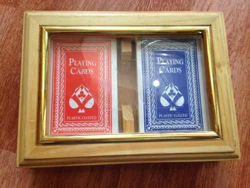 Barajas Cartas De Póker 100% Plásticas Con Estuche De