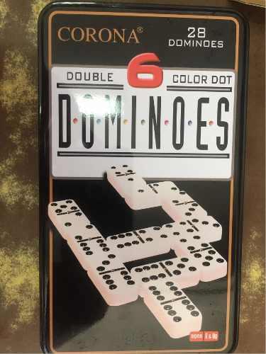 Domino Fino En Estuche D Metal El Mejor Acabado Marca Corona