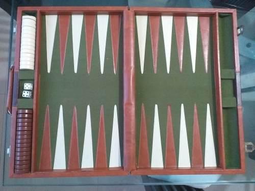 Juego De Mesa Backgammon, Usado Antiguo