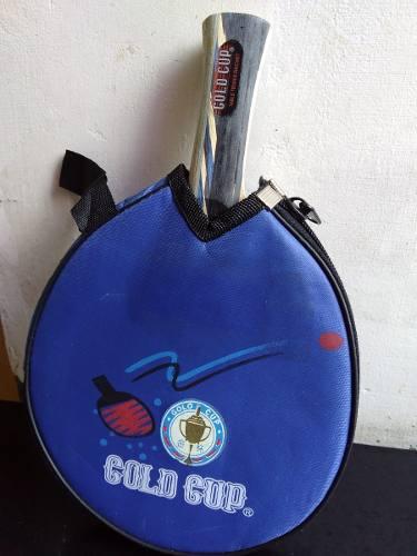 Raqueta De Ping Pong Gold Cup Tenis De Mesa + Forro Vinil