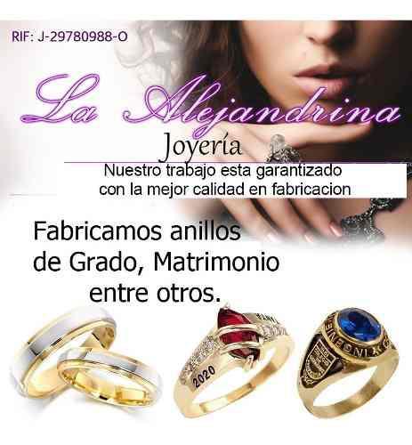 Anillos De Grado Y Matrimonio En Plata Y Oro