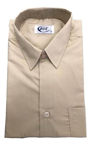 Camisa Escolar Beige Marca Hrd Original Talla Ss-s-m