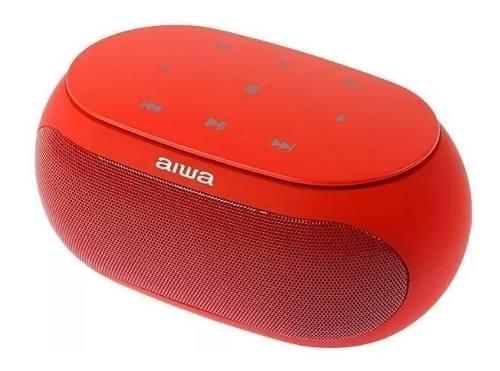 Corneta Portátil Aiwa Roja Bluetooth Y Micro Sd Tienda F.