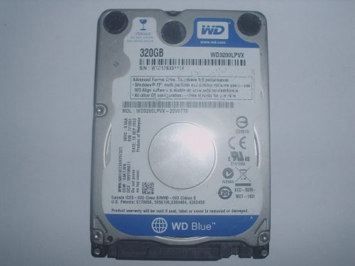 Disco Duro Para Laptop 320g Wd