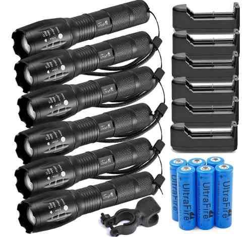 Linterna Led Tactica Zoom  Lumens + Bateria + Cargador
