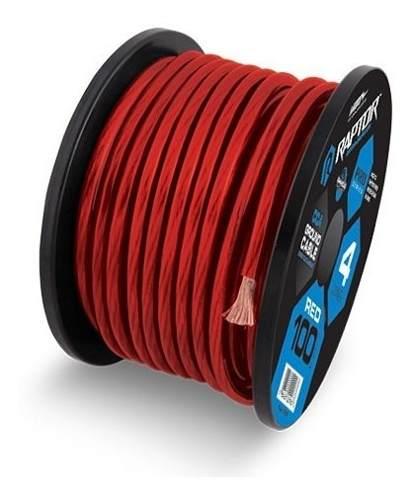 Rollo De Cable 0 Para Sonido Marca Raptor De 7.6 Metros Rojo