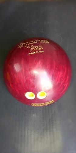 Bola De Bowling Rojo Escarchado Made In Usa
