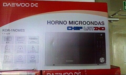 Horno Microondas Daewoo 31 Litros 1500w Tipo Espejo 1.1 Pies
