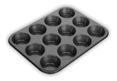 Pack De 12 Bandeja Molde Cupcake Ponquesitos 12 Capacillos