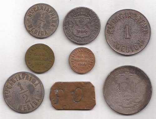 Coleccion De Fichas Y Monedas Antiguas