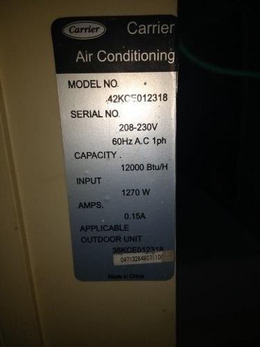 Consola Aire Acondicionado Split  Btu Carrier