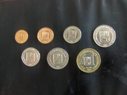 Cv Colección 7 Monedas 1 Céntimo A 1 Bolívar Fuerte