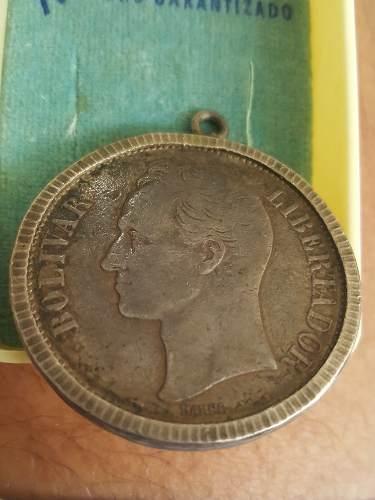Moneda De Plata De 5 Bs