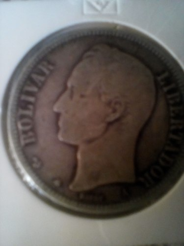 Moneda De Plata De Un Venezolano