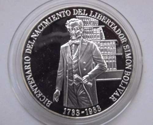 Moneda De Plata Natalicio Libertador Simón B.